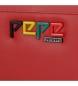 Comprar Pepe Jeans Grand portefeuille en cuir avec rabat Pepe Jeans Mandala Rouge -19x10x2,5cm