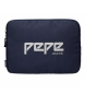 Compar Pepe Jeans Housse pour Jeans Pepe Pepe Uma bleu marine -30x22x2cm