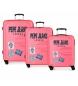 Comprar Pepe Jeans Ensemble de 3 valises rigides 37L / 80L / 125L Peje Edison Pink Jeans -55 x 40 x 20 / 69 x 49 x 28 / 79 x 56 x 33 cm