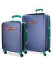 Juego de maletas Pepe Jeans Bristol Azul rígidas -38x55x20cm / 52x77x31cm-