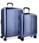 Juego de maletas Pepe Jeans Cambridge Azul rígidas 55-70cm