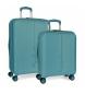 Juego de maletas Pepe Jeans Glasgow Azul Mar rígidas -40x55x20cm / 48x70x28cm-