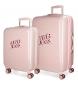 Juego de maletas Pepe Jeans Olaia rosa rígidas - 33L/ 64L-