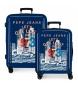 Juego de maletas Pepe Jeans rígidas 38.4L / 81L Cannoe -55x40x20 / 70x48x26 cm-