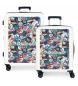 Juego de maletas Pepe Jeans rígidas 38.4L / 81L Phoenix -55x40x20 / 70x48x26 cm-