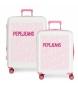 Juego de maletas Pepe Jeans rígidas 38.4L / 81L Tomas Rosa -55x40x20 / 70x48x26 cm-