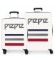 Juego de maletas Pepe Jeans Taking off rígidas 38,4L y 81L beige -55x40x20cm/70x48x28cm-