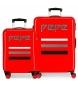 Juego de maletas Pepe Jeans World rígidas 34L y 70L Rojo -38x55x20cm/48x68x26cm-