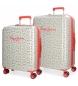 Juego de maletas rígidas 55-67cm Pepe Jeans Joseline -55x40x20cm / 67x46x28cm-
