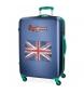 Maleta de Cabina 68L Pepe Jeans Bristol con Bandera Azul -45x67x28cm-