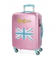 Compar Pepe Jeans Cabin Suitcase Pepe Jeans Bristol with Pink Flag -38x55x20cm-