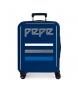 Maleta de cabina Pepe Jeans Taking off rígida 38,4L azul -55x40x20cm-