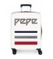 Maleta de cabina Pepe Jeans Taking off rígida 38,4L beige -55x40x20cm-