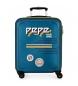 Maleta de cabina rígida 37L Peje Jeans Edison azul -55x40x20 cm-