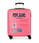 Maleta de cabina rígida 37L Peje Jeans Edison Rosa -55x40x20 cm-
