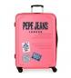 Maleta grande 125L Peje Jeans Edison Rosa -79x56x33 cm-