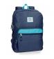 Mochila 44 cm doble cremallera adaptable a carro Pepe Jeans Molly azul -30,5x44x15cm-
