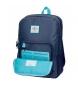 Comprar Pepe Jeans Mochila 44 cm doble cremallera adaptable a carro Pepe Jeans Molly azul -30,5x44x15cm-