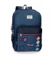 Mochila 44 cm doble cremallera adaptable a carro Pepe Jeans Paul -30x44x15cm-
