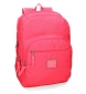 Mochila adaptable a carro Pepe Jeans Cross doble compartimento 44cm Fucsia -44x30,5x15cm-