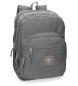 Mochila adaptable a carro Pepe Jeans Cross doble compartimento 44cm Gris -44x30,5x15cm-