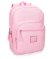 Mochila adaptable a carro Pepe Jeans Cross doble compartimento 44cm Rosa -44x30,5x15cm-