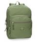 Mochila adaptable a carro Pepe Jeans Cross doble compartimento 44cm Verde Kaki -44x30,5x15cm-