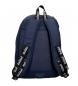 Comprar Pepe Jeans Mochila doble cremallera adaptable Pepe Jeans Uma azul marino -31x44x15cm-