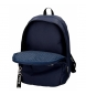 Comprar Pepe Jeans Double zipper backpack with trolley Pepe Jeans Uma navy blue -31x44x15cm