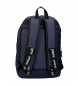 Comprar Pepe Jeans Mochila Doble Cremallera Pepe Jeans Osset azul -31x46x15cm-