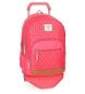 Mochila escolar Pepe Jeans Carola Coral 44cm doble compartimento con carro rojo