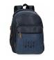 """Mochila para portátil 15,6"""" dos compartimentos Pepe Jeans Max azul -31x44x15cm-"""