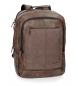 Compar Pepe Jeans Backpack for laptop Pepe Jeans Cranford Brown double compartment -31x47x1cm-
