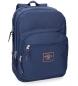 Mochila Pepe Jeans Cross doble compartimento 44cm Azul -30,5x44x15cm-