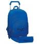 Mochila Pepe Jeans Harlow azul doble compartimento con carro -31x42x17,5cm