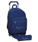 Comprar Pepe Jeans Mochila Pepe Jeans Harlow azul marino doble compartimento con carro -30,5x42,5x15cm-