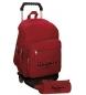 Comprar Pepe Jeans Mochila Pepe Jeans Harlow rojo doble compartimento con carro -30,5x42,5x15cm-