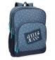 Mochila Pepe Jeans Olaia doble compartimento azul -45x32x15cm-