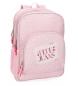Mochila Pepe Jeans Olaia doble compartimento rosa -45x32x15cm-