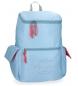 Mochila Pepe Jeans Yoga Azul adaptable a trolley -31x44x19cm-