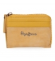 Compar Pepe Jeans Leather wallet with card Pepe Jeans Double Yellow -11,5x8x1,5cm