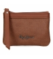 Compar Pepe Jeans Daphne purse brown -13x9x1.5cm