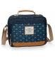Neceser Pepe Jeans Carola Azul adaptable a trolley con bandolera -20x26x10 cm-