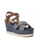 Comprar Refresh Sandalo 069912 blu marino - Altezza cuneo: 9cm-