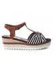 Compar Refresh Sandalo 069979 nero - Altezza cuneo: 6cm-