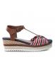 Compar Refresh Sandalo 069979 rosso - Altezza cuneo: 6cm-