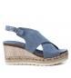 Sandalia 069815 jeans  -Altura cuña: 9cm-