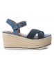 Sandalia 069735 jeans -Altura cuña: 9cm-