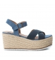 Compar Refresh Sandal 069735 jeans - Wedge height: 9cm