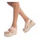 Comprar Refresh Sandal 069736 nude - Wedge height: 9cm